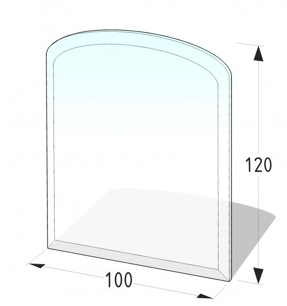 Glasbodenplatte P8 - Segmentbogen 1000x1200 (mm)