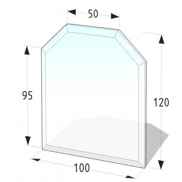Glasbodenplatte P3 - Sechseck 1000x1200 (mm)