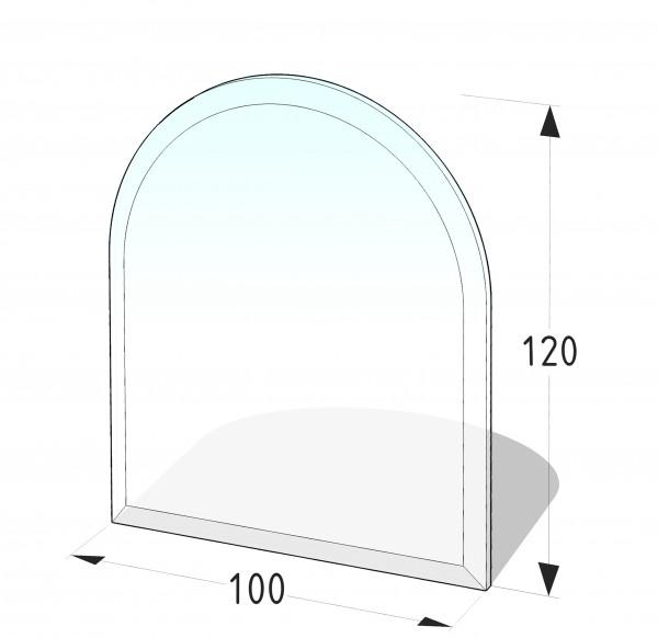 Glasbodenplatte P9 GR - Rundbogen 1000x1200 (mm)