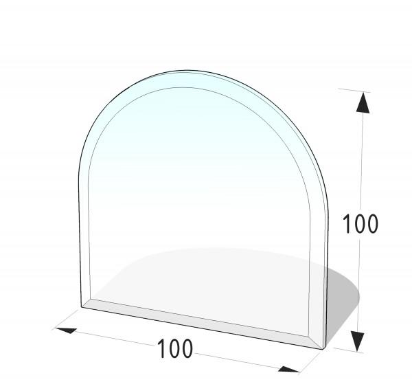 GLASPLATTE P9 - RUNDBOGEN 1000x1000 (MM)