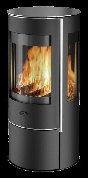 Fireplace - AMARANT Glas Kaminofen Rohranschluss hinten