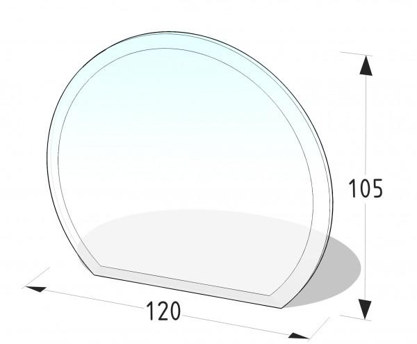 GLASPLATTE P10 - KREISABSCHNITT 1200x1050 (mm)