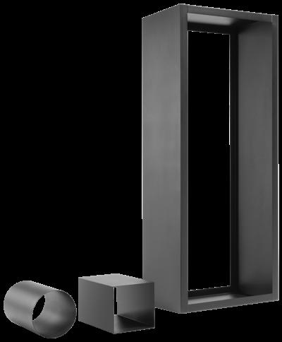 Oranier - Holzregal Stahl schwarz